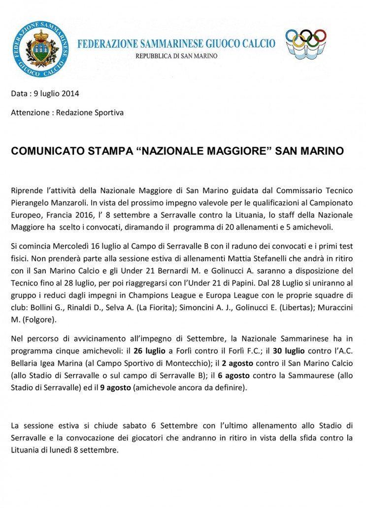 Comunicato-Stampa-Nazionale-Maggiore-9-Luglio-2014